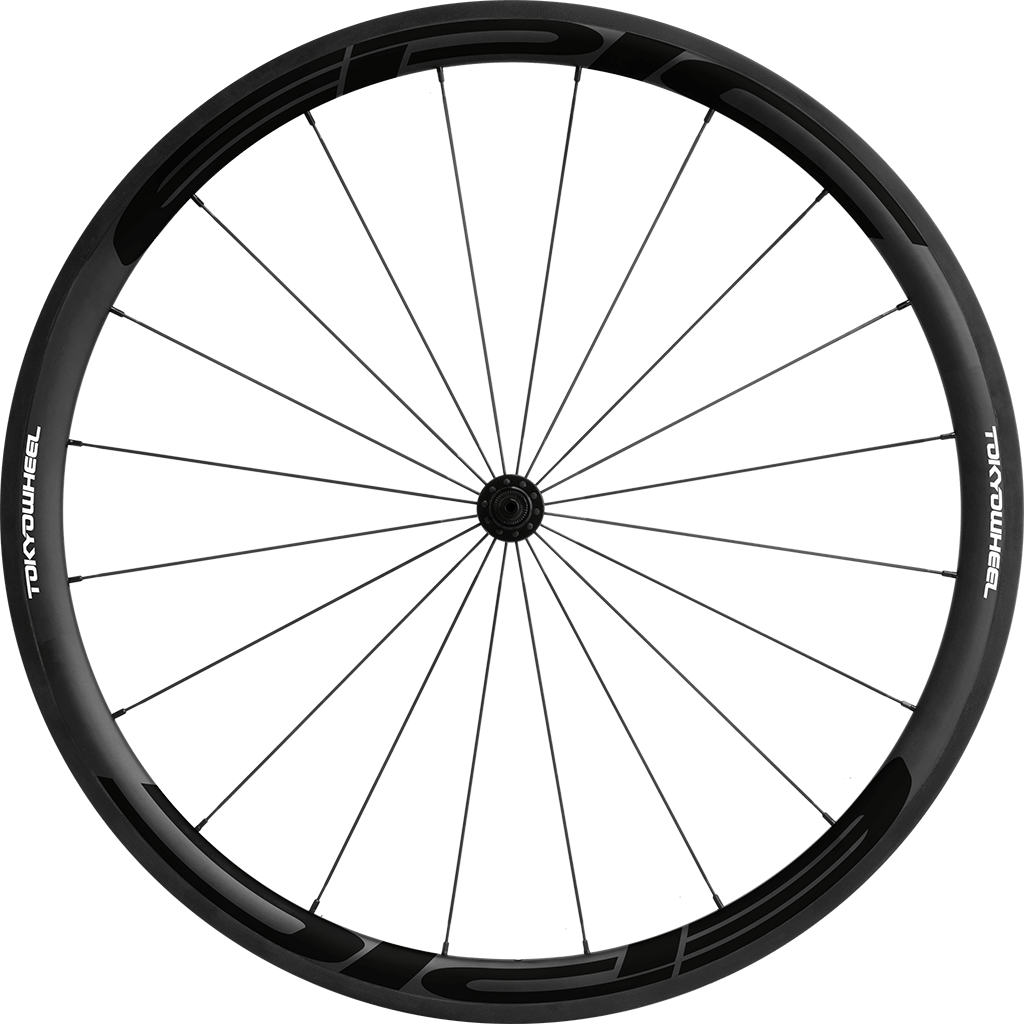 Epic 38 carbon clincher front black min