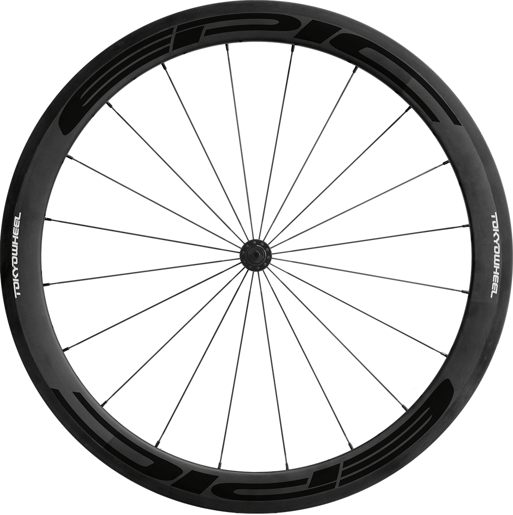 Epic 50 carbon clincher front black min