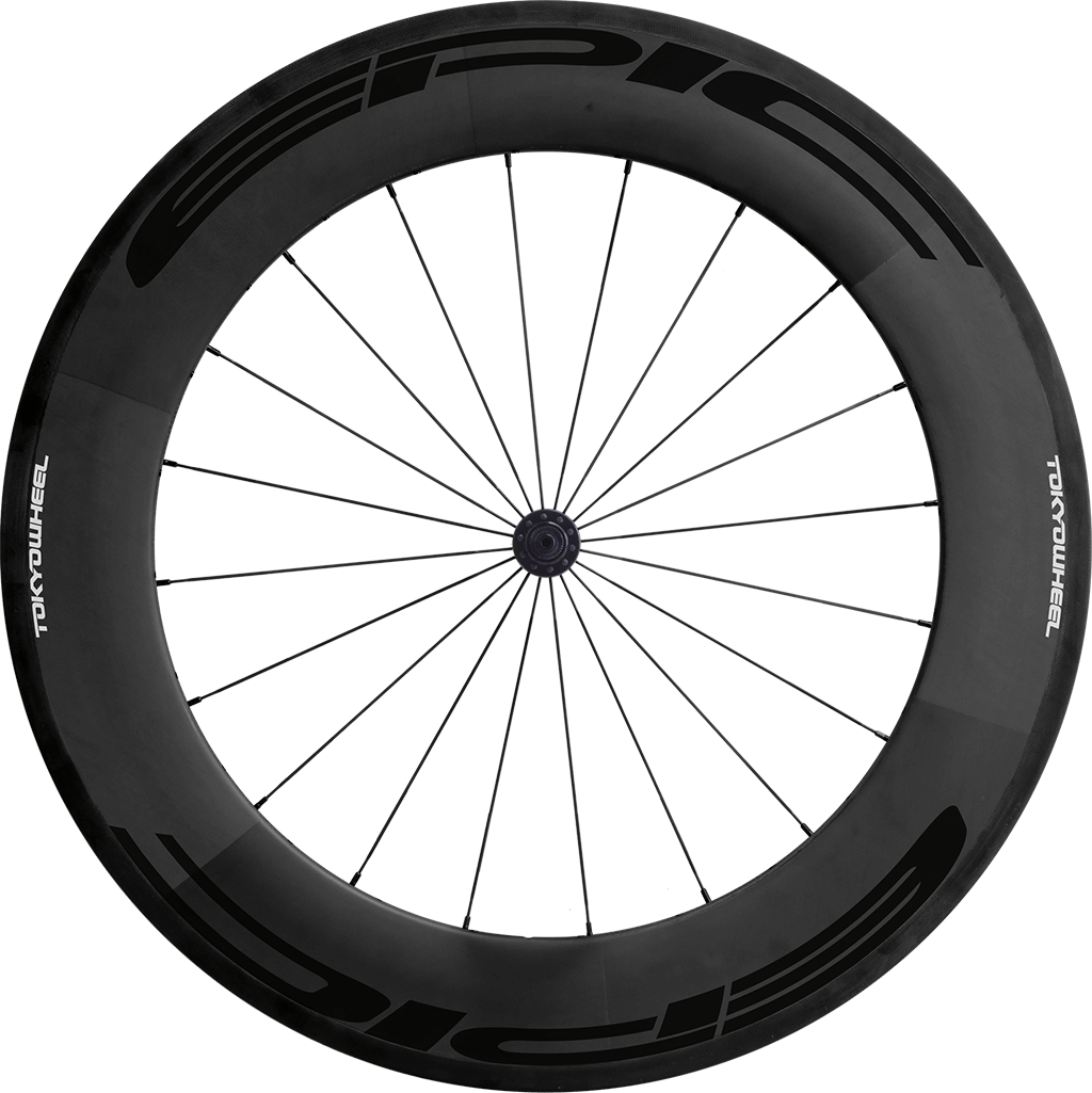 Epic 88 carbon clincher front black min