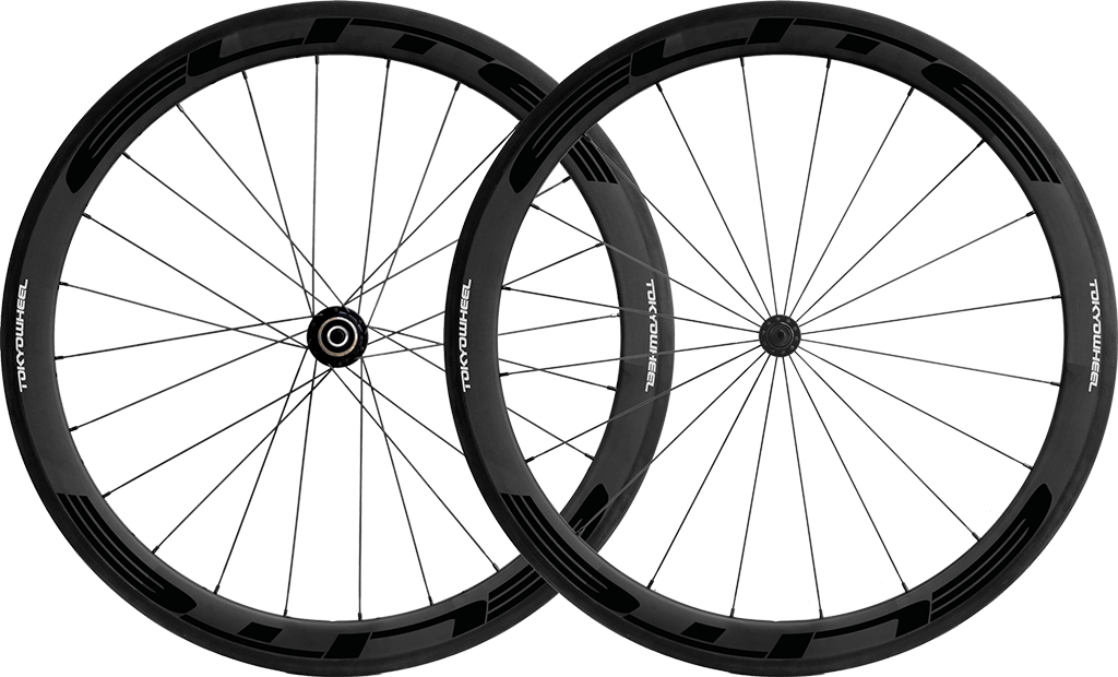 Elite 50 carbon tubular wheelset black min