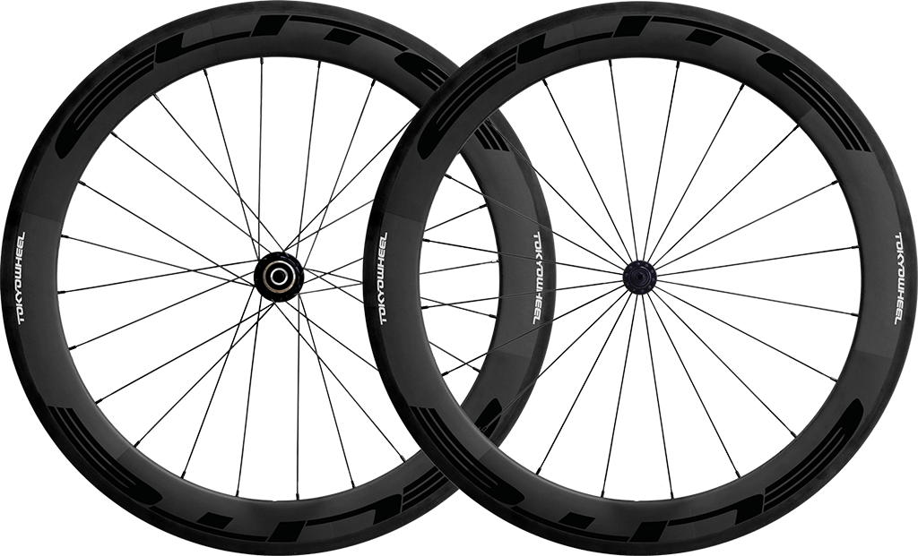 Elite 60 carbon tubular wheelset black min