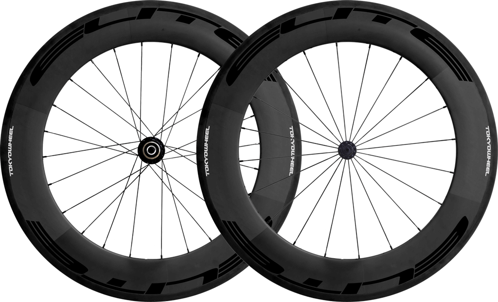 Elite 88 carbon tubular wheelset black min