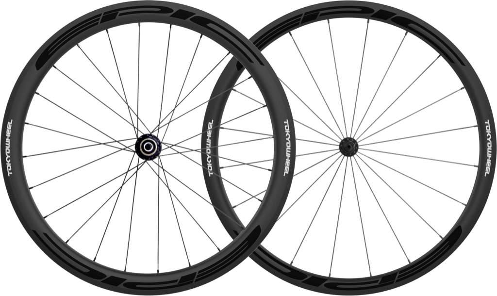 Epic 3 4 carbon clincher wheelset black min