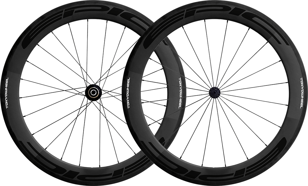 Epic 60 carbon clincher wheelset black min