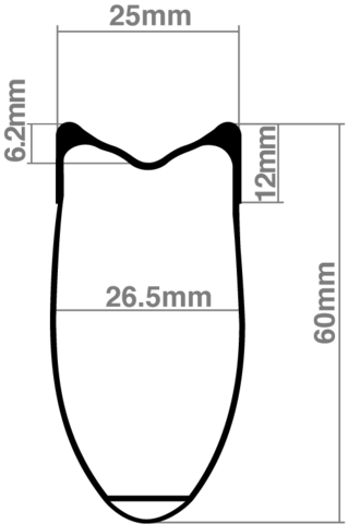 Extra Wide 26.5mm Carbon Rim